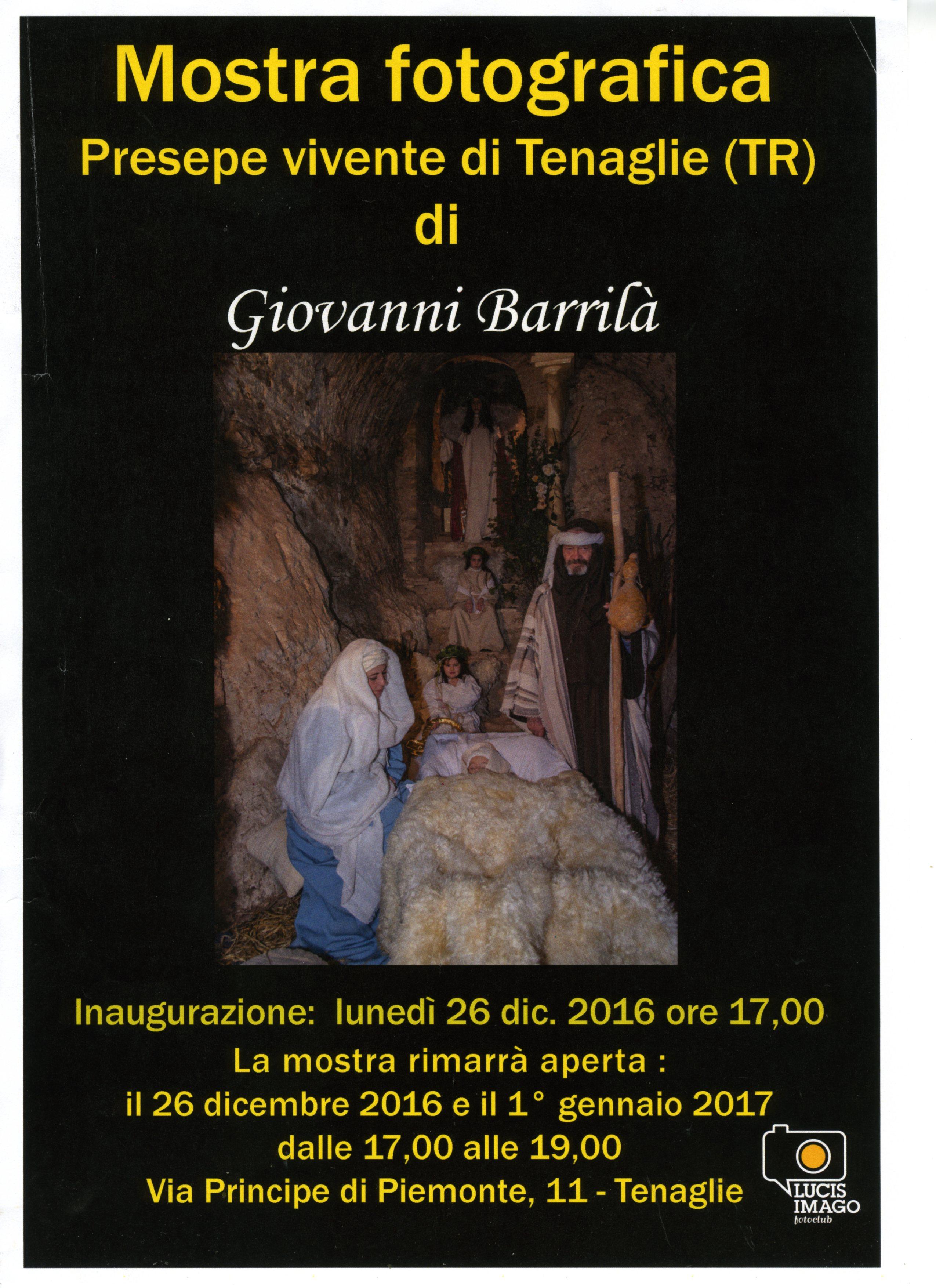 PRESEPE VIVENTE DI TENAGLIE – Giovanni Barrilà