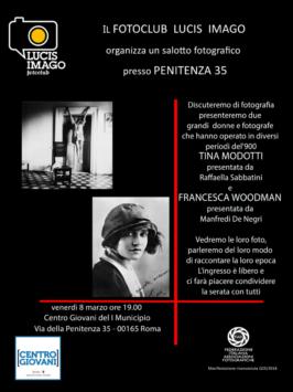 8-3-2019 Tina Modotti e  Francesca Woodman
